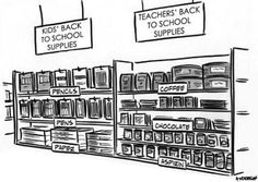 Funny pictures about Back to school supplies. Oh, and cool pics about Back to school supplies. Also, Back to school supplies. Teacher Humour, Teacher Cartoon, Teaching Humor, School Cartoon, Teaching Quotes, Teacher Memes, Teacher Stuff, Teaching Ideas, Teacher Comics