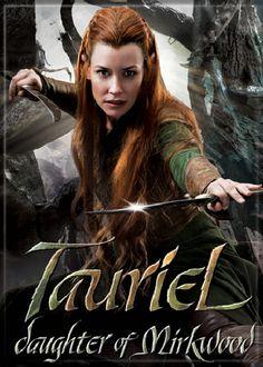 Tauriel, daughter of Mirkwood Legolas And Tauriel, Thranduil, Mirkwood Elves, Misty Eyes, Female Elf, O Hobbit, Desolation Of Smaug, Kino Film, Evangeline Lilly