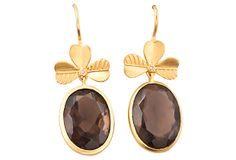 Smoky Quartz Earrings by Cygnet et Cie on OneKingsLane.com