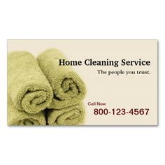Home Cleaning Service Business Cards