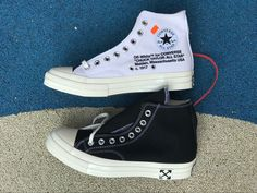 12ccf3ff8d69 Custom Off-White x Converse Chuck Taylor All Star 70 Canvas Black White
