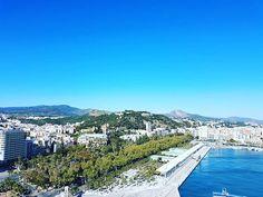 #Málaga: #Alcazaba #Gibralfaro #muelleuno #palmeral. #Andalucía #España #Spain