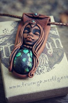 Goddess Necklace with Turquoise and Sodalite  Gemstones by TRaewyn