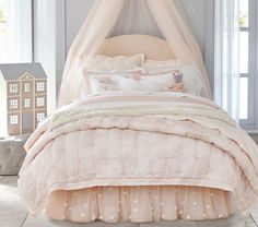 Monique Lhuillier Ethereal Lace Quilted Bedding