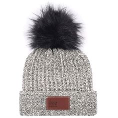 759e606f77c36 Love Your Melon Black Speckled Beanie with Black Pom