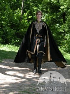 Medieval Fantasy Wool Cloak Elven Prince by armstreet on Etsy, $172.50
