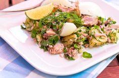 Kesäinen tonnikala-perunasalaatti