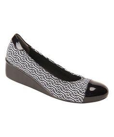 Black & White Stretch Elizabeth Wedge