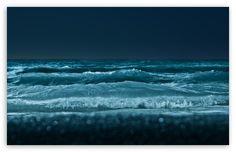 Sea At Night HD desktop wallpaper : High Definition : Fullscreen : Mobile : Dual Monitor