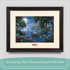 Patrick Kinkade is live on ShopHQ today, 1/27/2015, introducing beautiful new Thomas Kinkade Collectibles! See this gorgeous Framed Limited Edition print, along with collections of other beautiful Thomas Kinkade home accents. For a schedule of showtimes click on this Pin. #thomaskinkade #shophq #littlemermaid #collectibles