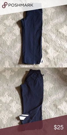 Nike Cropped Pants Cropped navy soft pants from Nike. Elastic waist. Pockets. Very gently used. Nike Pants Track Pants & Joggers