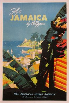 Poster by Von ArenBurg / Pan Am - Jamaica / 1950