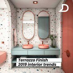 uses for terrazzo Terrazzo, Bathroom Inspiration, Interior Inspiration, Bathroom Interior Design, Interior Decorating, Küchen Design, House Design, Estilo Interior, Toilet Design