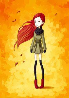 "Saatchi Online Artist Indrė Bankauskaitė; Digital, ""Autumn Breeze"" #art"