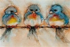 birds on a wire painting - Bing images