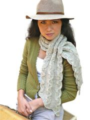 Free Knitting Pattern 90589AD Cabled Cowl : Lion Brand