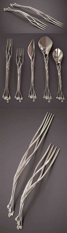 3D printed silverware.