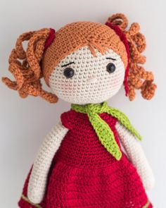 This is a finished handmade amigurumi crochet doll Ruby wearing a stylish outfit. The scarf can be taken off. You can order the whole doll or certain elements (hair, outfit etc.) in different colours. Please, ask for a custom order. Well be more than happy to customise this doll for you.