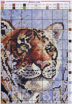 Cross Stitchs *<3* Tiger
