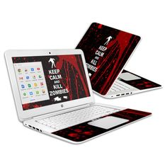 Check out this Kill #Zombies Skin for HP #Chromebook 14 with matching wallpaper #gifts #gamers #customize