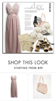 """Shein: prom"" by fashionplanet01 ❤ liked on Polyvore featuring IKKS and Branca"