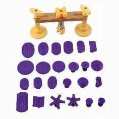 [ 29% OFF ] Tops Professional Car Body Dent Hail Repair Removal Bridge & 24 Pcs Glue Tabs Kit Puller & Glue Pulling Tabs Pdr Tools