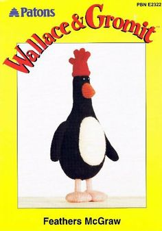 Patons 2322 Knitting Pattern : Wallace and Gromit Feathers McGraw Toy (12in tall) (Patons DK) by Patons, http://www.amazon.co.uk/dp/B004J9M79A/ref=cm_sw_r_pi_dp_AYMitb0VF0XKR