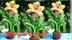 How To Make 3D Origami Daffodil Flower | DIY Paper Daffodil Flower Tutor...