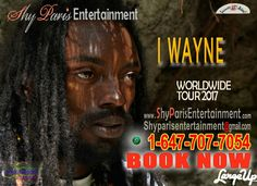 Promoters, festivals, Venues Book  I Wayne #festival #venus #reggaeonthehill #onelove #iwayne #onelovefest #africa #jamaica #jamaicacarnival #trinidad #trini #stlucian #loversrock #loversrock #dancehall #dancehallmusic #jamaicamen #reggaeton #reggaejapan #reggaejam #reggaejapansplash #reggaesplash #jamaicamen #jerkfest #caribbean #caribbeanmusic #sunfest #reggaeartist #reggaegermany #reggaeeurope #reggaefrancais #reggaefrance #tdot #416reggae shyparisentertainment@gmail.com  or…