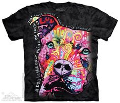 Thoughtful Pit Bull T-Shirt –  Buy this shirt and vaccinate a shelter pet. $18.99–$27.99