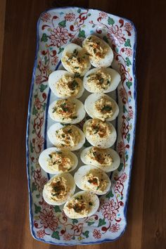 Miso Deviled Eggs | Set the Table Flavorful deviled eggs made with Japanese miso paste & creamy