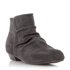 Head Over Heels Ladies PATTIES - Flat Ruched Ankle Boot - grey | Dune Shoes Online size 6