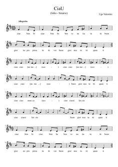CiaU #sheetmusic #musiced