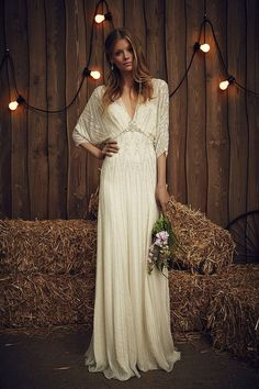 Wedding Dresses For Curvy Brides Featured Dress: Jenny Packham;Wedding Dresses For Curvy Brides Featured Dress: Jenny Packham; Wedding Dresses Photos, Bohemian Wedding Dresses, Boho Dress, Bridal Dresses, Maxi Dresses, Relaxed Wedding Dress, Bohemian Bride, Vintage Dress Wedding, Bobo Wedding Dress