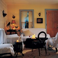 Learn how to make a petrified parlor this Halloween with an idea from Martha Stewart.