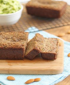 almond zucchini bread by Runningtothekitchen. This was my first experience baking with almond flour and we really liked it. It reminds me of french toast-- no need to saute the bread in butter though.