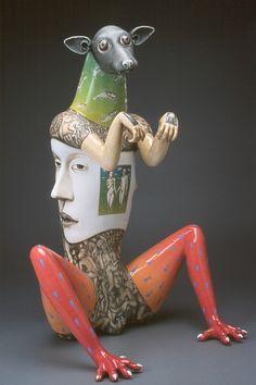 Art by Sergei Isupov Modern Sculpture, Sculpture Art, Pottery Sculpture, Clay Figures, Arte Popular, Contemporary Ceramics, Ceramic Artists, Art Design, State Art