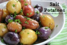 Salt Potatoes Recipe.   The salt is not actually included to make the recipe salty. The salt increases the boiling point of the water. With the different boiling point, it makes the flesh of the potato creamier than normal and less starchy.