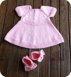 vestidos de bebe tejido con agujas con patrones
