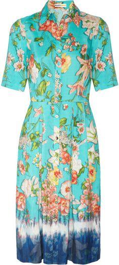 Clements Ribeiro Floral Foxglove Floralprint Washed silk Dress
