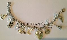 Fifty shades of Grey ultimate charm bracelet by Bottlecapbling101, $40.00