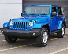 Used 2017 15 Reg True Blue Jeep Wrangler 2 8 Crd Sahara 2dr Auto For