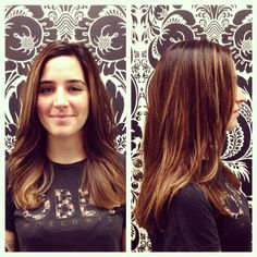 Julie created a soft golden ombré base with bright highlights on Victoria. Bright Highlights, Victoria, Base, Long Hair Styles, Beauty, Long Hairstyle, Long Haircuts, Long Hair Cuts, Beauty Illustration