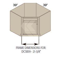 Diagonal Corner Sink Base Cabinet Unfinished Oak 42