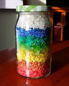 Rainbow in a Jar | AllFreeKidsCrafts.com