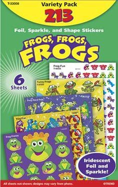 FROGS FROGS FROGS VARIETY PK by TREND ENTERPRISES INC.. $3.99. Stickers. Get all your favorite TREND stickers in one convenient pack! Perfect for rewarding achievement and adding a fun finishing touch to notes, scrapbooks, and crafts. Packs include a variety of popular sticker designs in sparkle, foil, and more. 204-561 stickers per pack.