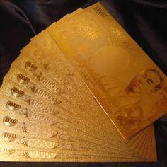 開運!金運!24金箔ゴールド一万円札 レディースのファッション小物(財布)の商品写真 Gold Money, My Money, Meaning Of Wealth, Make Money Online, How To Make Money, Money Rose, I Love Gold, Mood Colors, Gold Bullion