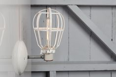 Industrial Lighting - Modern Cage Light - Wall Mount Sconce