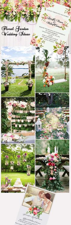 gorgeous floral garden wedding ideas and invitations
