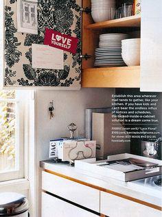 #DIY #decorating idea: #wallpaper your kitchen cabinet doors